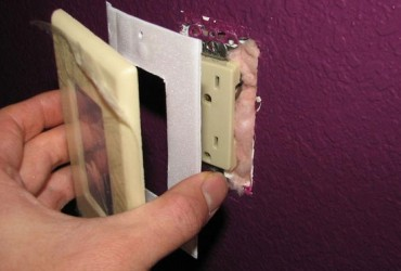 Install Foam Gaskets behind Outlets